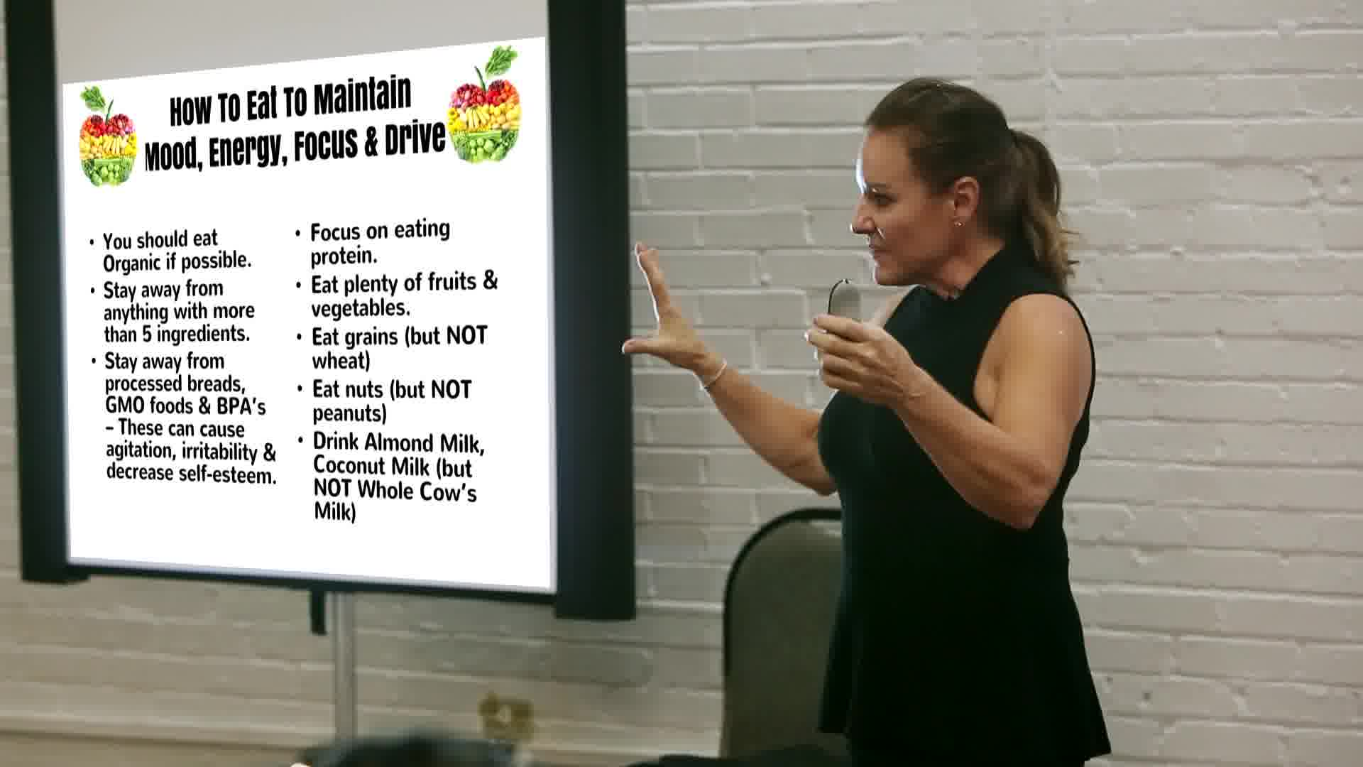 Basic nutrition information for increasing energy and sense of well being