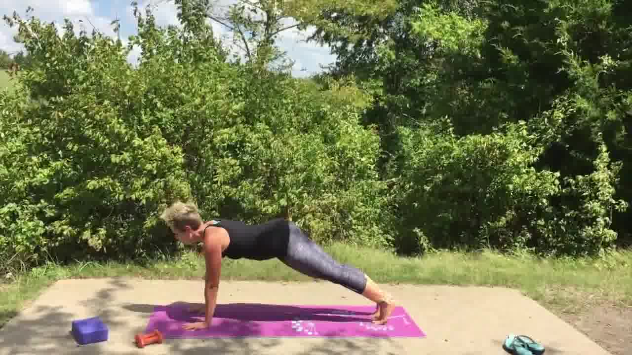 stretching and strengthening with yoga
