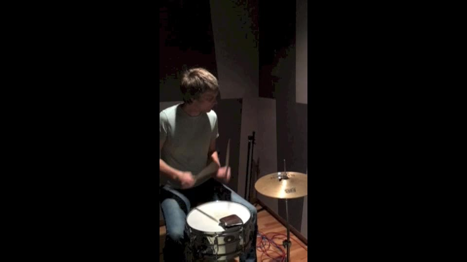 Recording drums with one mic