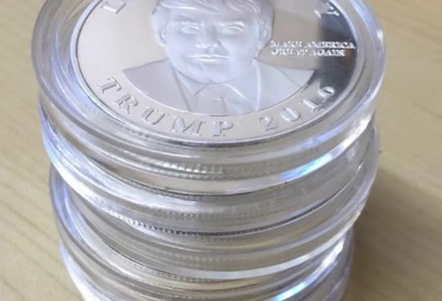 Donald Trump Silver Liberity Coin 2016