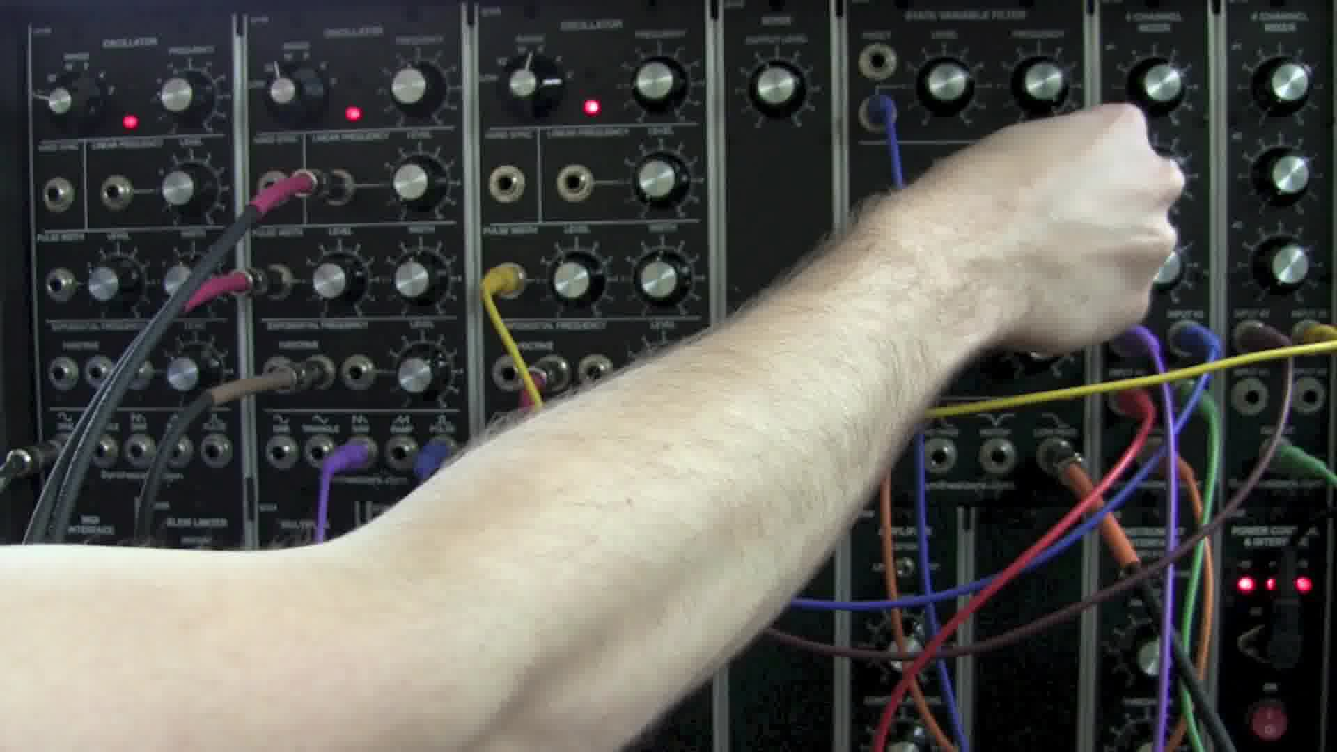 modular synthesizer demo